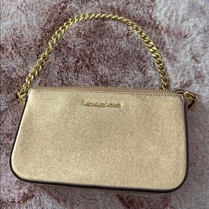 Michael Kors Chain Medium Metallic Soft Pink